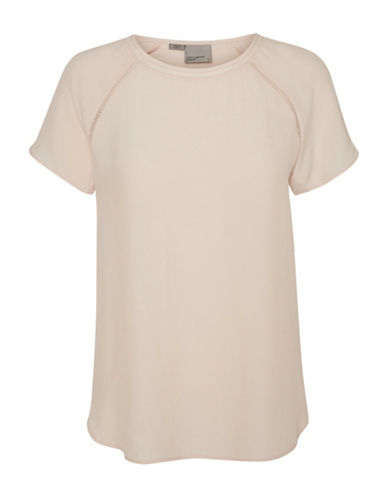 Vero Moda Draped Tee-PINK-Medium 88929135_PINK_Medium