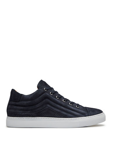 Selected Drake Waxed Suede Sneakers-DARK NAVY-EU 40/US 7