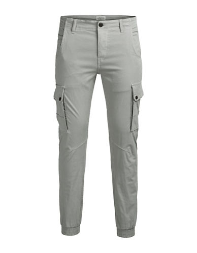Jack & Jones JJI Paul JJ Warner AKM Slim Fit Cargo Pants-GREY-32X34