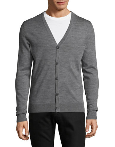Jack And Jones Premium Merino Wool Cardigan-GREY-Small