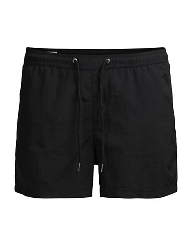 Jack & Jones Sunset Swim Shorts-BLACK-X-Large