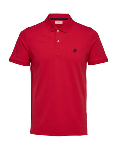Selected Homme SHHARO Embroidered Polo-RED-X-Large