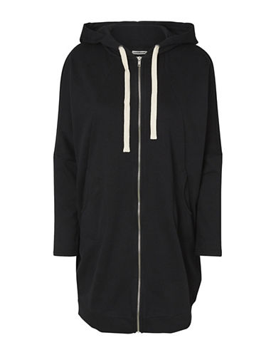 Noisy May Oversized Zip-Up Hoodie-BLACK-X-Small 89039338_BLACK_X-Small