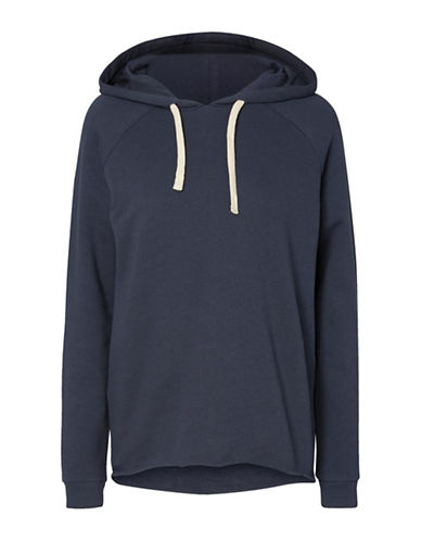Noisy May Raw Hem Hoodie-BLUE-Small 89039331_BLUE_Small