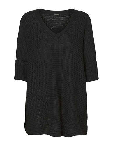 Noisy May Vera V-Neck Top-BLACK-Large