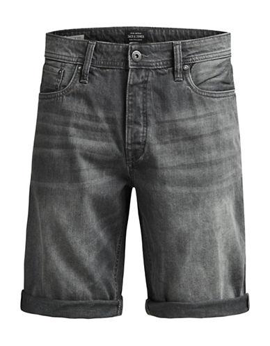 Jack & Jones Rick Original Faded Denim Shorts-BLACK-X-Large 89085492_BLACK_X-Large
