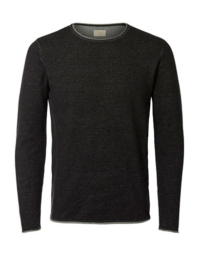Selected Homme Cotton Sweater-GREY-Large