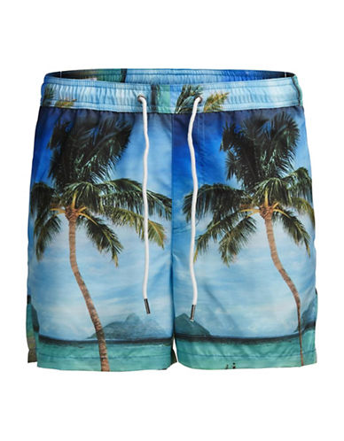 Jack & Jones Sunset Sublimation Swim Shorts-BLUE-X-Large 89119945_BLUE_X-Large