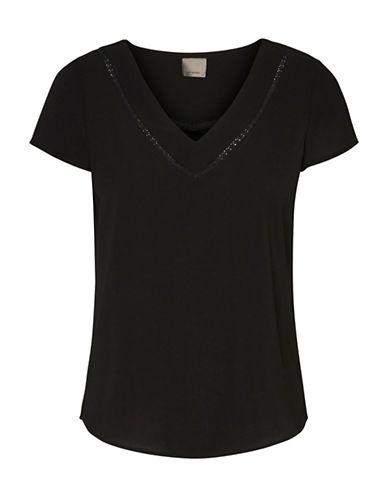 Vero Moda Justina T-Shirt-BLACK-Medium 88911524_BLACK_Medium