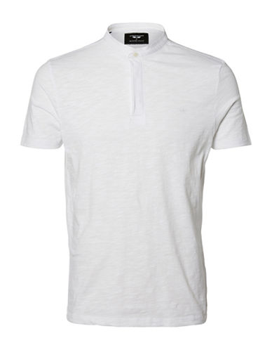 Selected Homme AB Slub Henley-WHITE-XX-Large