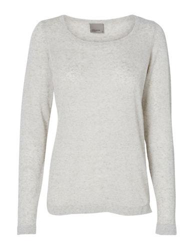 Vero Moda Linen-Blend Sweater-GREY-Medium 88929103_GREY_Medium