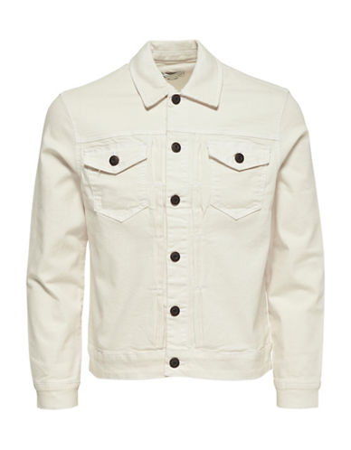 Only And Sons Kasper Bull Denim Jacket-WHITE-Medium 89092173_WHITE_Medium