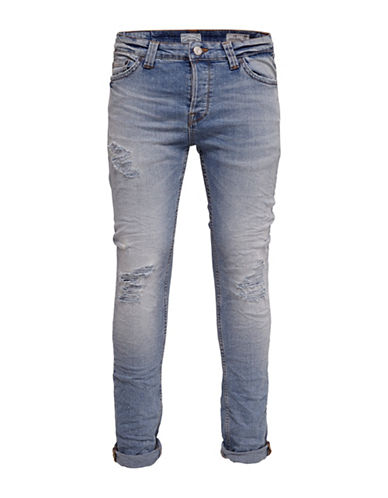 Only And Sons onsLOOM Distressed Jeans-BLUE-28X34