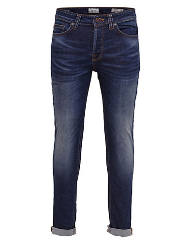 Only And Sons Cuffed Jeans-BLUE-28X34