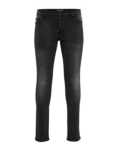 Only And Sons Faded Slim-Fit Jeans-BLACK-28X34