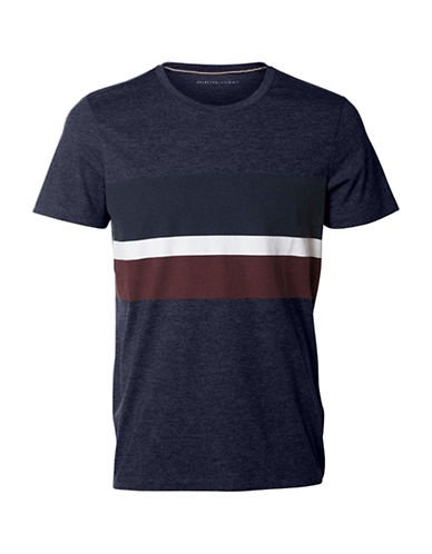 Selected Homme Colorblock Knit Tee-BLUE-X-Large 89158168_BLUE_X-Large