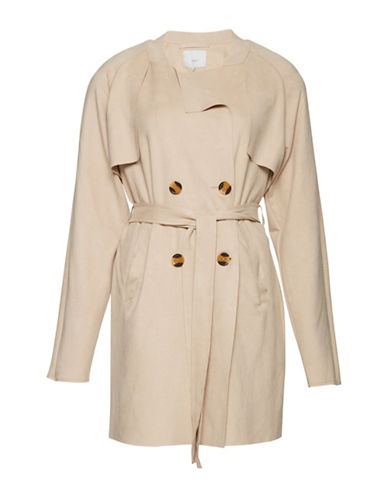 Ichi Samo Trench Coat-BEIGE-Medium