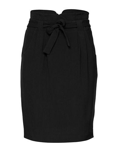 Ichi Jocona High-Waist Pencil Skirt-BLACK-36