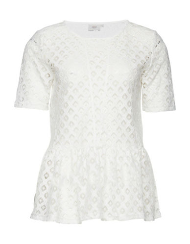 Ichi Dira Lace Peplum Top-NATURAL-38