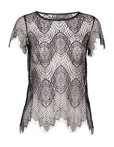 Ichi Kinoa Lace Shell Top-BLACK-X-Small