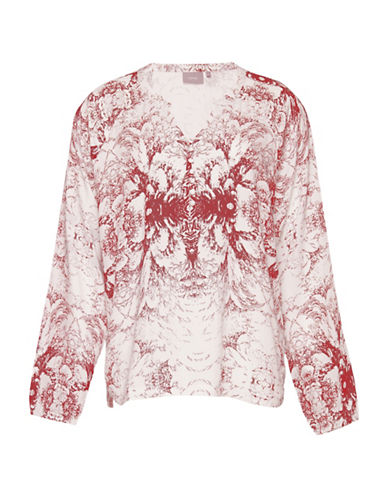 B. Young Henico Blouse-RED-38
