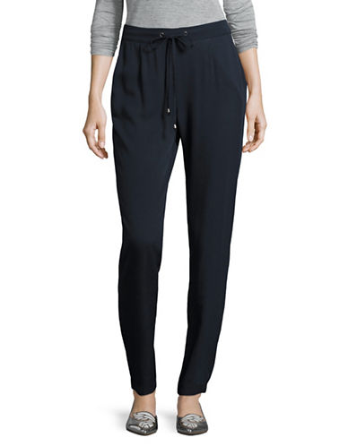 B. Young Hyra Pleated Pants-BLUE-38