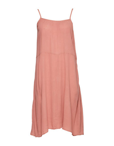 Ichi Marrakech Trapeze Midi Dress-PINK-Small