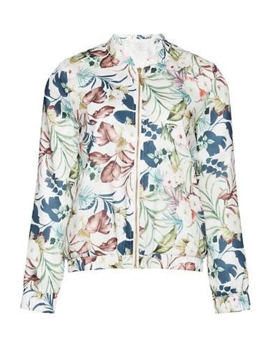Ichi Jungle Florals Baseball Jacket-MULTI-X-Small