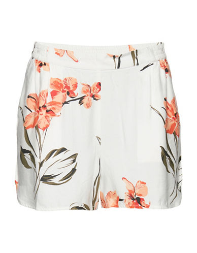 B. Young Jafia Shorts-WHITE MULTI-34