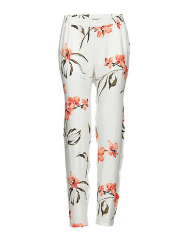B. Young Floral Printed Jafia Pants-WHITE MULTI-38