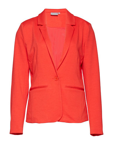 B. Young Saludy Long Sleeve Blazer-RED-40