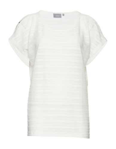 B. Young Susa Striped Open-Shoulder Tee-WHITE-Medium