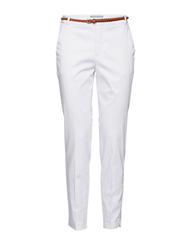 B. Young Days Cotton Blend Pants-WHITE-40