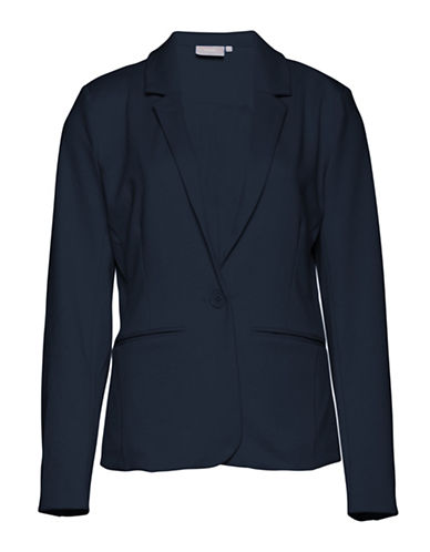 B. Young Saludy Long Sleeve Blazer-BLUE-38