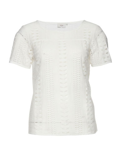 Ichi Cimola Short Sleeve Top-NATURAL-38
