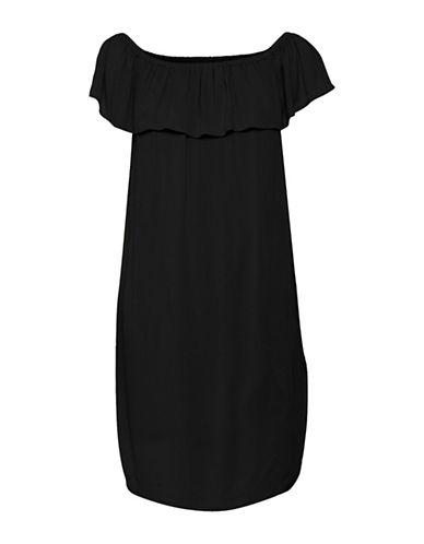 Ichi Marrakech Ruffle Dress-BLACK-Small