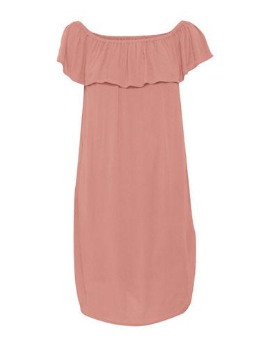 Ichi Marrakech Ruffle Dress-PINK-Small