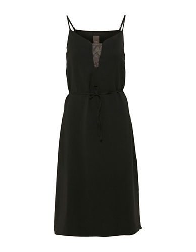 Ichi Cruniz Lace Detail Sundress-BLACK-34