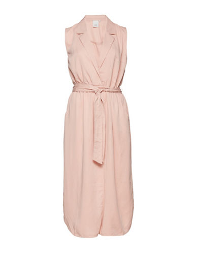 Ichi Corinna Sleeveless Shirt Dress with Belt-PINK-34
