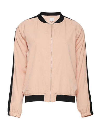 Ichi Topso Colourblock Jacket-PINK-Medium