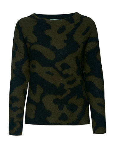 B. Young Nela Camouflage Sweatshirt-GREEN-Small