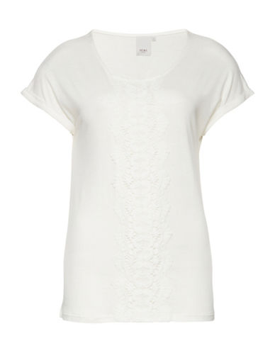 Ichi Lavez Crochet Top-NATURAL-Medium