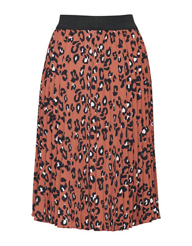 Ichi Atwar A-Line Skirt-CEDAR WOOD-Medium