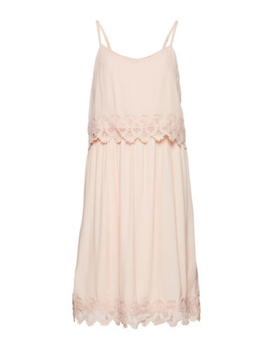B. Young Juta Popover Lace Trim Dress-PINK-34