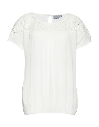 B. Young Crochet Heathered T-Shirt-WHITE-34