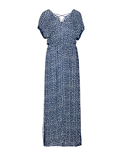 B. Young Fuba Maxi Dress-BLUE MULTI-36