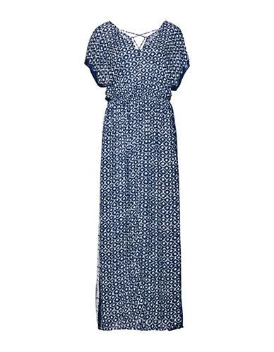 B. Young Fuba Maxi Dress-BLUE MULTI-38
