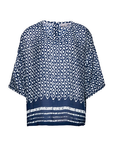 B. Young Fuba Printed Shirt-BLUE-38