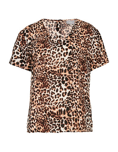 B. Young Girit Leopard-Print Top-ASSORTED-38