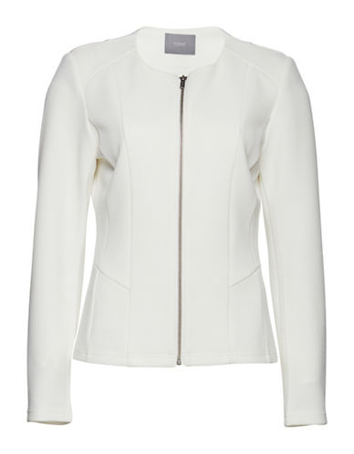 B. Young Tenima Zip-Front Jacket-WHITE-X-Small